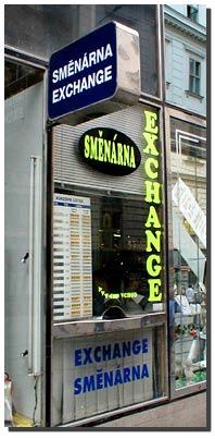 Обмен валют в Праге