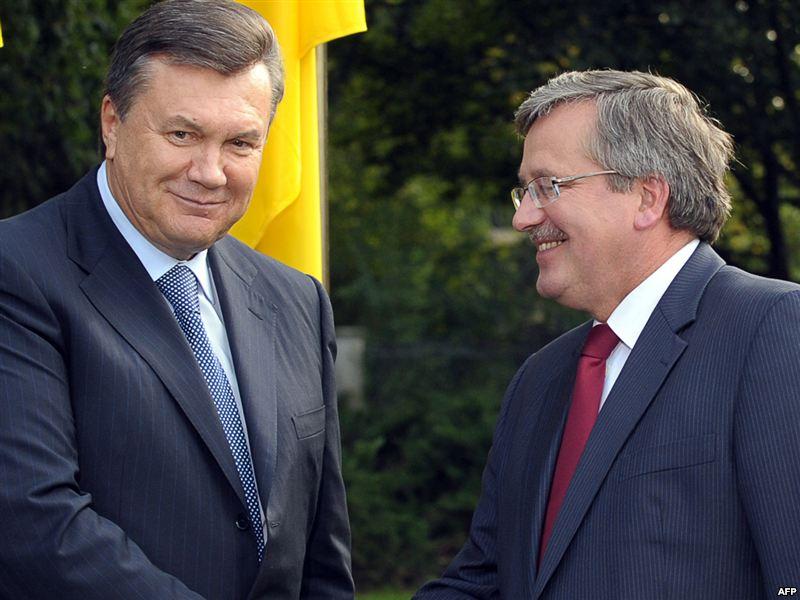 Виктор Янукович и Бронислав Комаровский