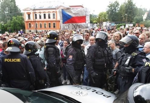 Цыганские погромы в Чехии