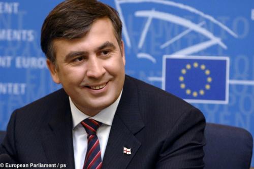 Борис Немцов, Михаил Саакашвили в Праге обсуждают коррупцию в России