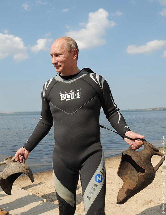 Путин не делал археологических находок