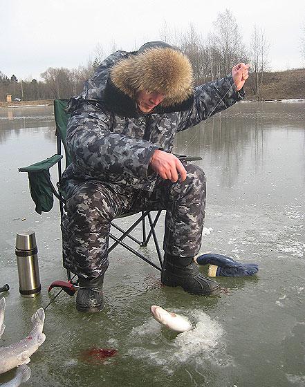 Та же рыбалка, только в валенках