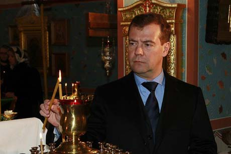 Дмитрий Медведев примет участие в богослужении в храме св. Николая