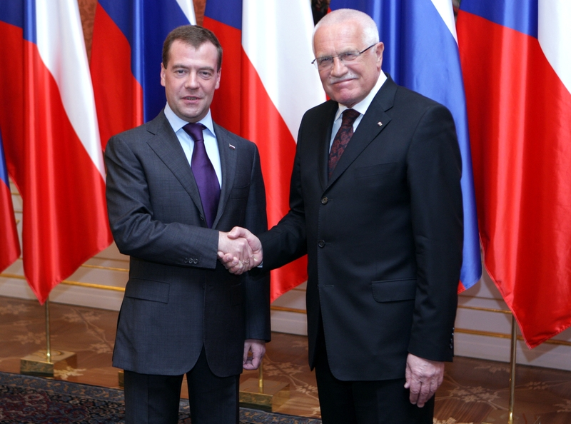 Дмитрий Медведев и Вацлав Клаус
