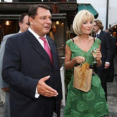 Йржи Пароубек с супругой