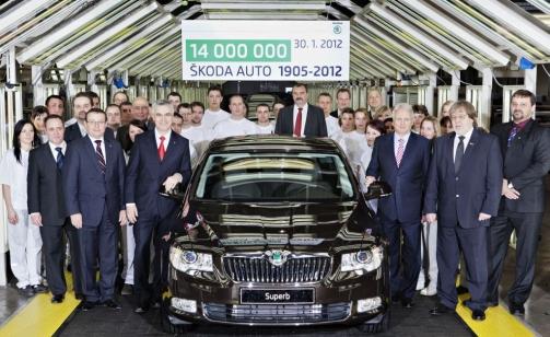 ?koda выпустила 14-миллионный автомобиль