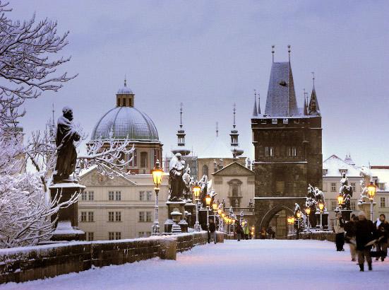 Жителей Чехии ожидает похолодание и снег