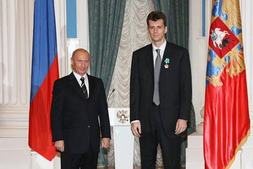 Владимир Путин и Михаил Прохоров