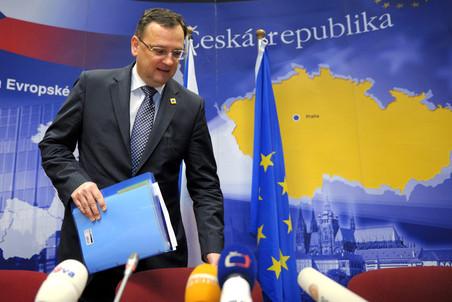 Премьер-министр Чехии Петр Нечас на саммите в Боюсселе