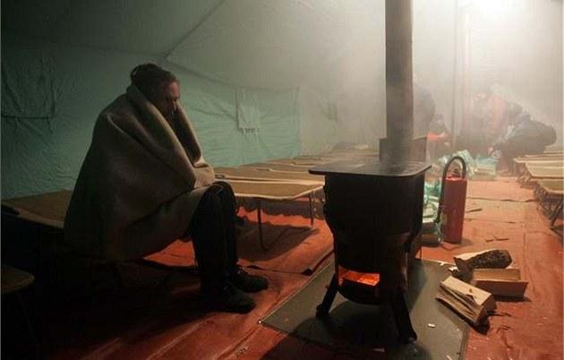В Праге появится палатка для бездомных