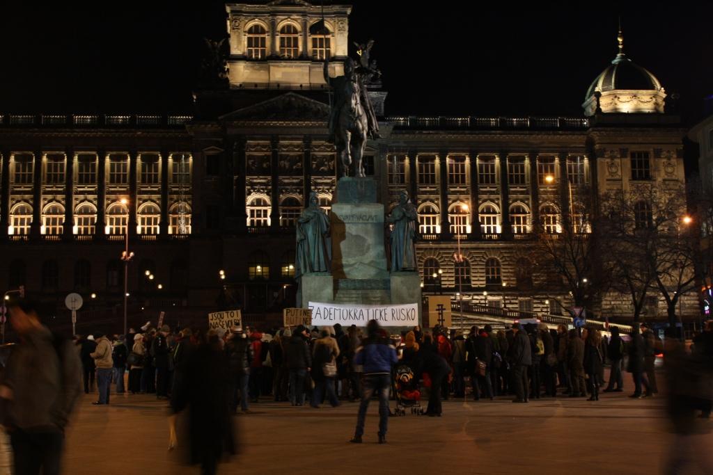 Чехи митинговали за честную политику в России