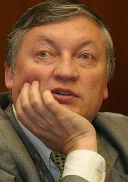 Великий советский гроссмейстер Анатолий Карпов