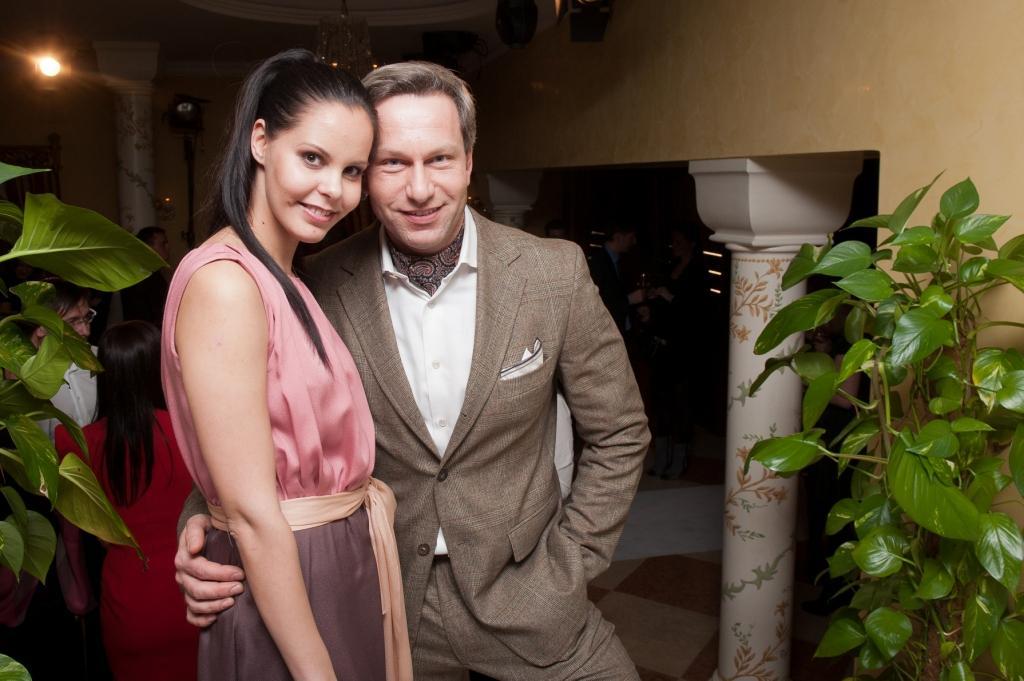 Алёна Семёнова, владелица бутиков Escada и Escada Sport и Андрей Галасси, Anrej Galassi, владелец Галереи Восточно-европейского современного искусства