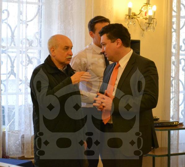 Чрезвычайный и Полномочный Посол РФ в Чехии Сергей Киселев и консул Игорь Самошкин