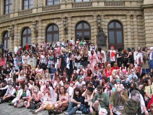 Зомби в центре Праги