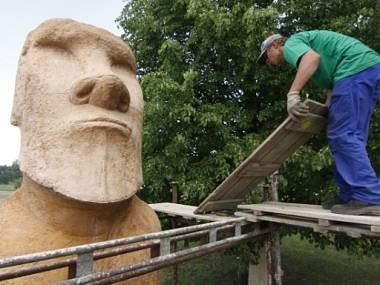 В Чехии создали точную копию статуи с острова Пасхи