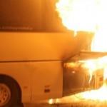 Пожар в автобусе тушили 20 минут