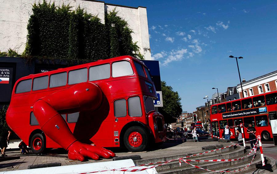 """Автобус-""""спортсмен"""" установлен перед Чешским Олимпийским домом"""