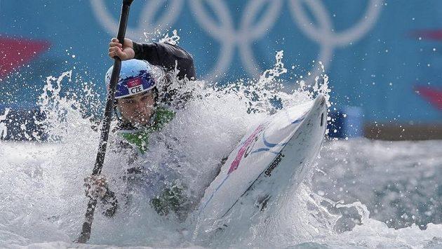 На дистанции гребного слалома серебрянный призер в Лондоне Вавринец Храдилек