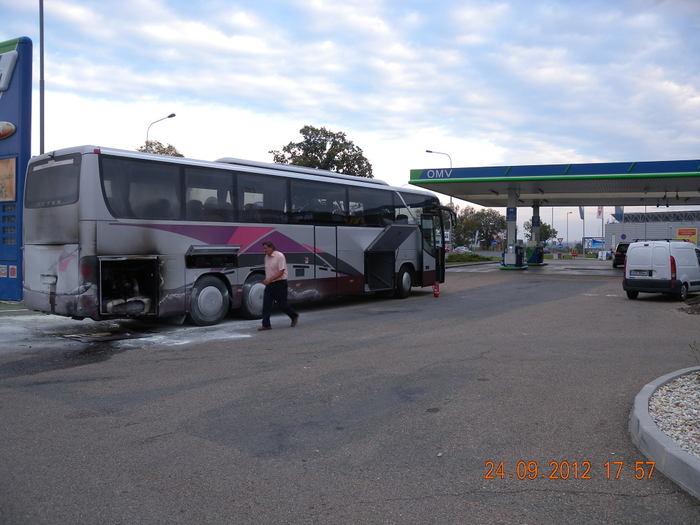 Все пассажиры успели покинуть автобус, обошлось без жертв