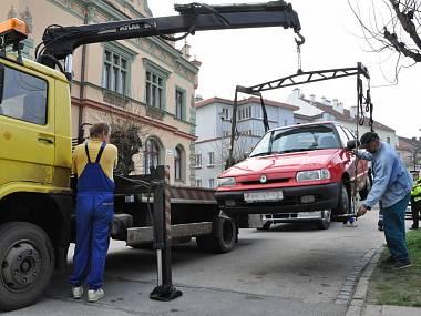 Размер штрафа в Чехии за отвоз автомобиля на специальную стоянку 2500 крон