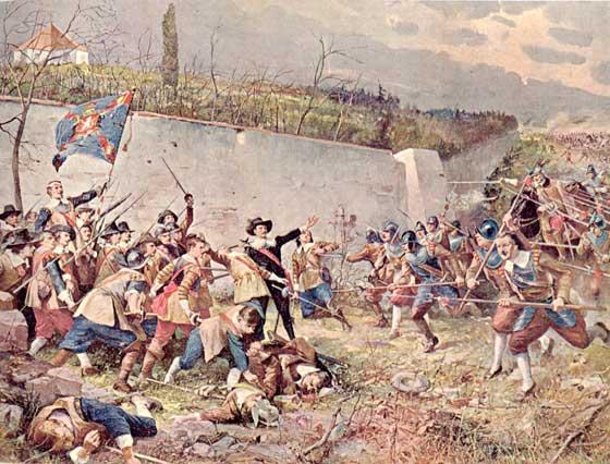 Реконструкция битвы на Белой горе