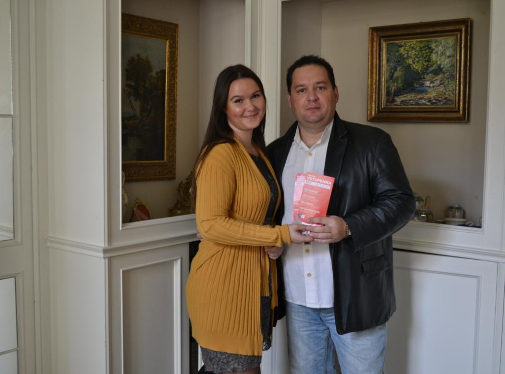 Один из наших победителей Валерий Шмидт и сотрудница ПТ Валерия