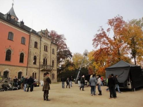 В Чешском замке проходят съемки российского фильма