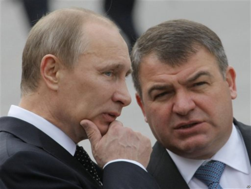 Владимир Путин и Анатолий Сердюков