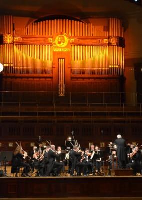 Гостей развлекал оркестр