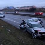 15 автомобилей столкнулись на скоростном шоссе Р10