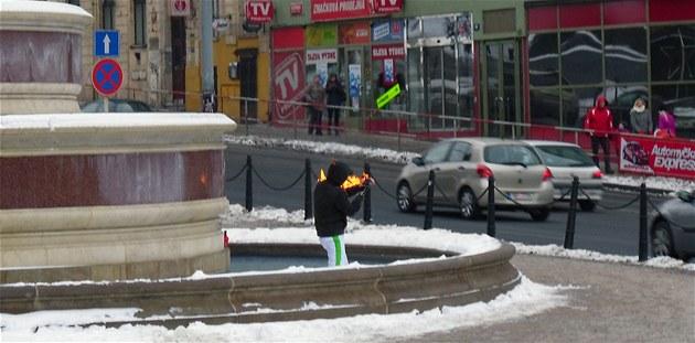 Мужчина поджёг себя в память о Яне Палахе