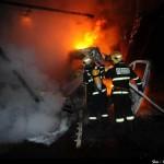 В центре Праги тушат пожар на вилле