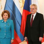 Валентина Матвиенко завершила свой визит встречей с Милошем Земаном