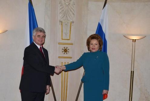 Милан Штех и Валентина Матвиенко