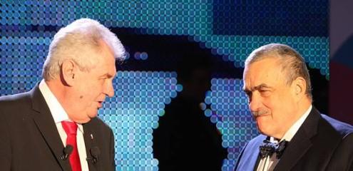Президент Милош Земан и министр иностранных дел Карел Шварценберг