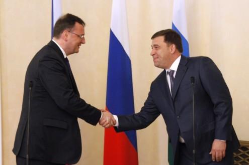 Евгений Куйвашев и Петр Нечас