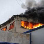 Огнём были повреждены производственные помещения фабрики