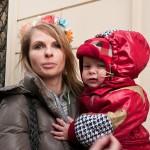 Анастасия Хаген со своим ребенком