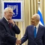 Милош Земан и Шимон Перес, президент Израиля