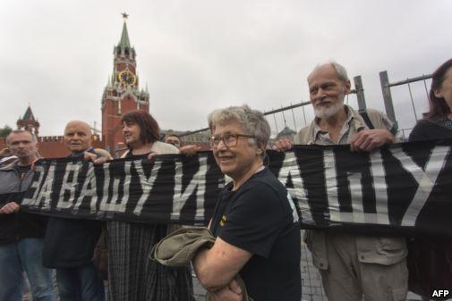 Наталья Горбаневская принимала участие в демонстрации 1968 годп на Красной площади