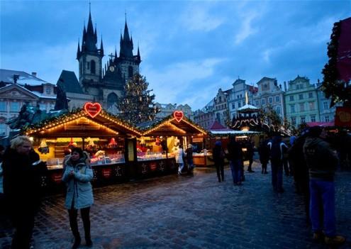 В Праге в холодную зимнюю пору