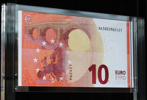 Новая купюра номиналом 10 евро
