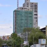 Высота жилого дома достигает 93 метров