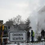 В Праге произошли две аварии на теплосетях