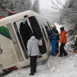 В Чехии перевернулся автобус с детьми