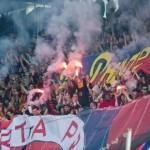 В Праге футбольные болельщики вступили в  драку с полицией