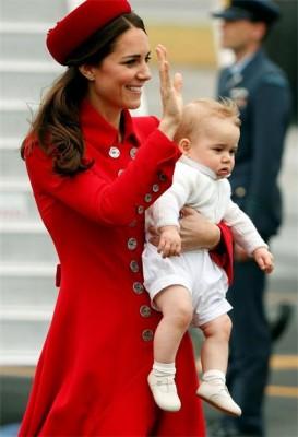 Кэтрин Миддлтон и принц Джордж