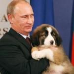 Владимир Путин и овчарка Баффи