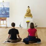 Зал для медитации буддийского центра вмешает 250 человек